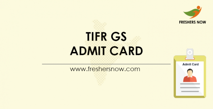 TIFR GS Admit Card