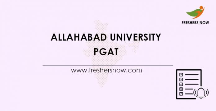 Allahabad University PGAT