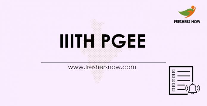 IIITH PGEE 2021