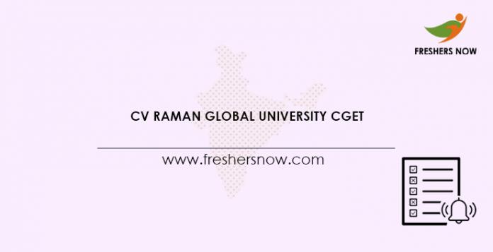 CV Raman Global University CGET 2021