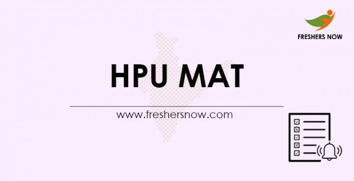 HPU MAT 2021