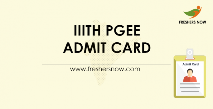 IIITH-PGEE-Admit-Card