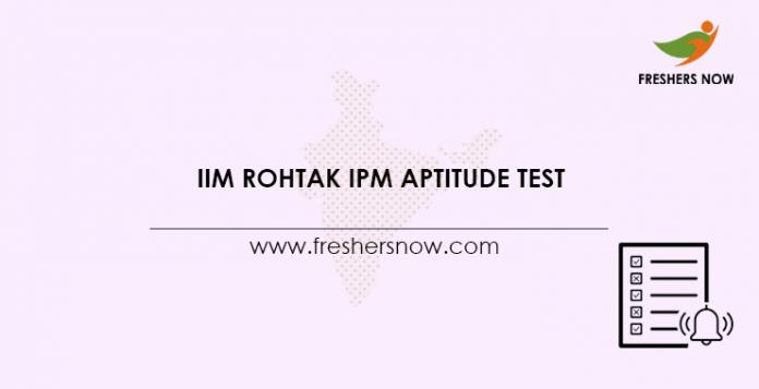 IIM-Rohtak-IPM-Aptitude-Test