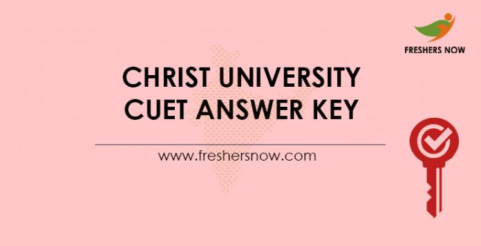 Christ University CUET Answer Key