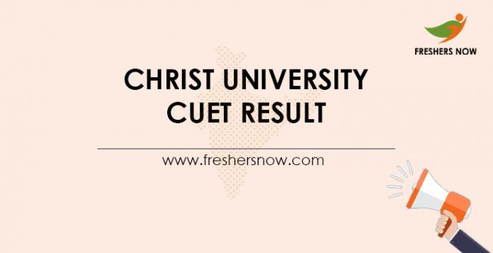 Christ University CUET Result