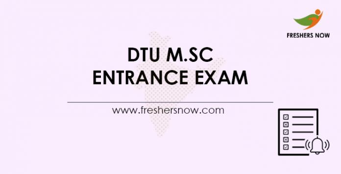 DTU M.Sc. Entrance Exam