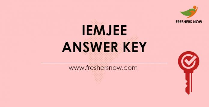 IEMJEE Answer Key