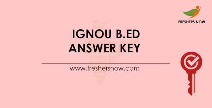 IGNOU B.Ed Answer Key