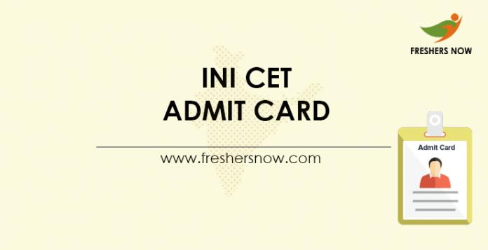 INI-CET-Admit-Card