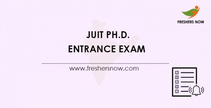 JUIT Ph.D Entrance Exam