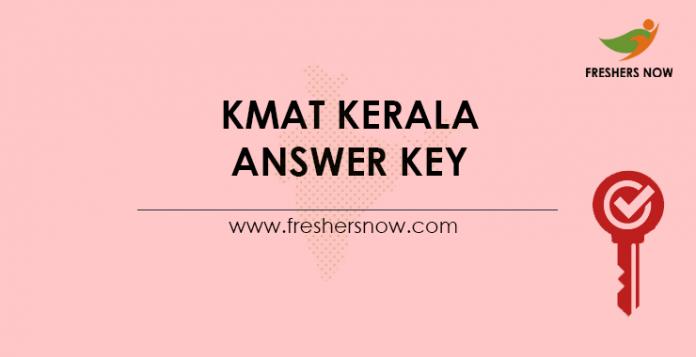 KMAT Kerala Answer Key