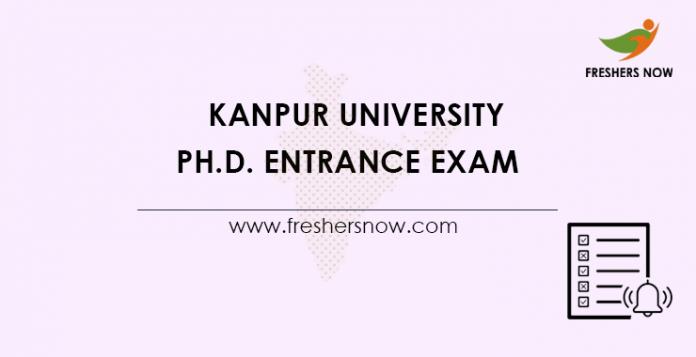 Kanpur-University-Ph.D.-Entrance-Exam