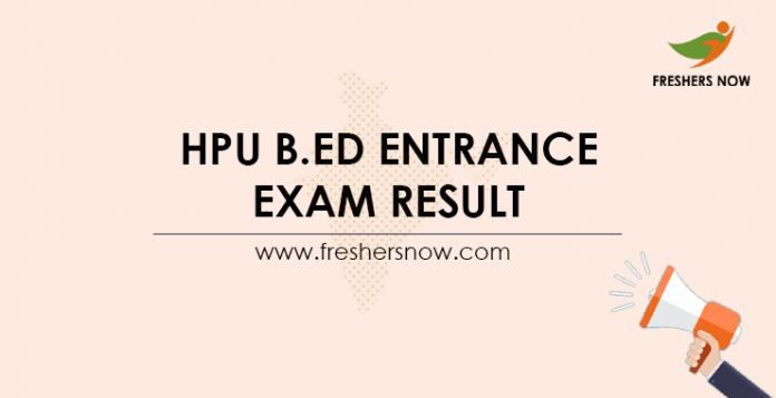 HPU-B.Ed-Entrance-Exam-Result