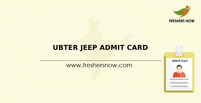 UBTER JEEP Admit Card
