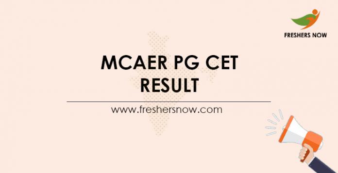 MCAER-PG-CET-Result