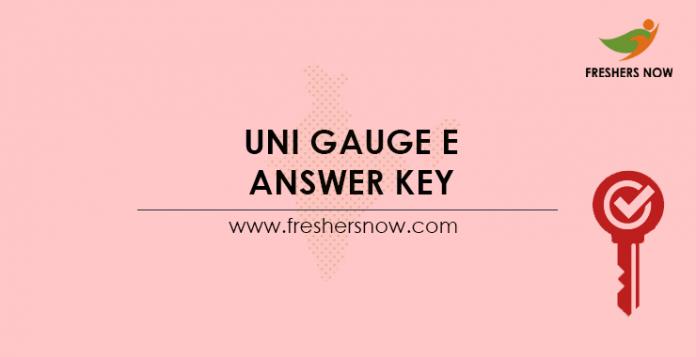 Uni-GAUGE-E-Answer-Key